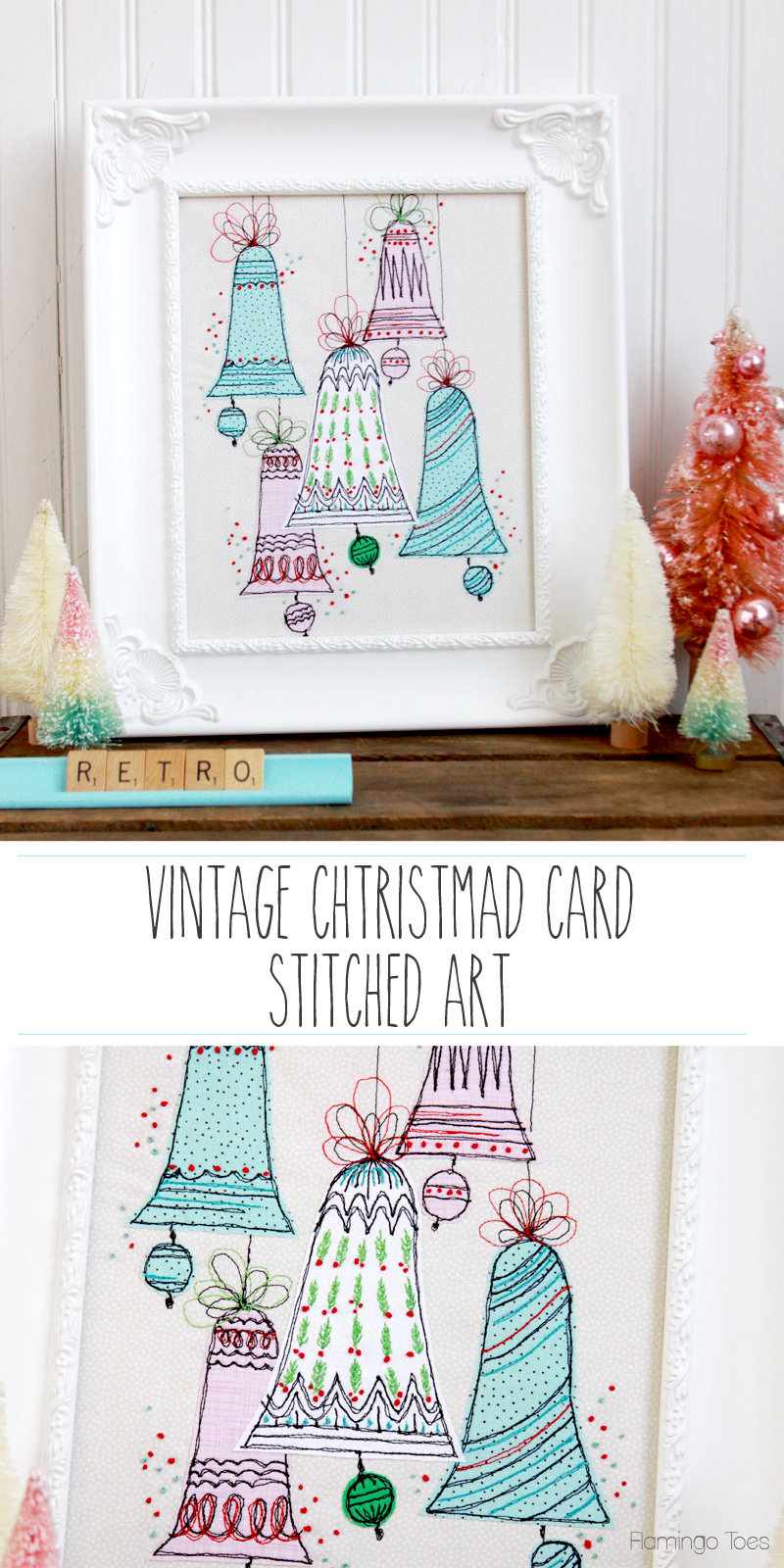 Vintage-Christmas-Card-Inspired-Stitched-Artwork