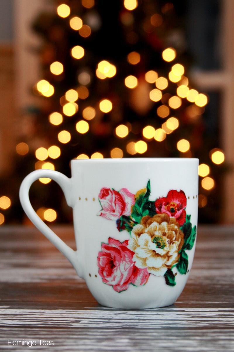 Vintage Style Floral Mug