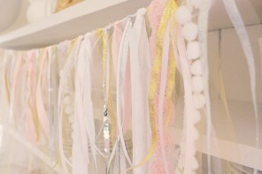 Adorable Fabric and Ribbon Scrap Banners