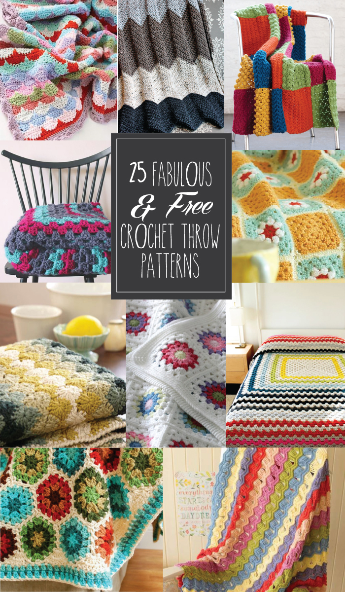 25 Fabulous and Free Crochet Throw Patterns - these all look so great!