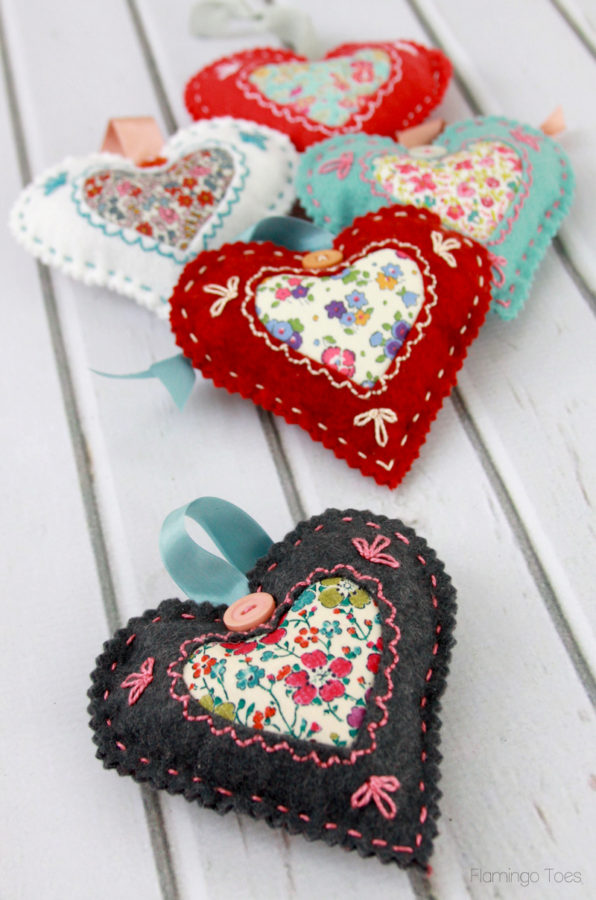 DIY Valentine Heart Sachets