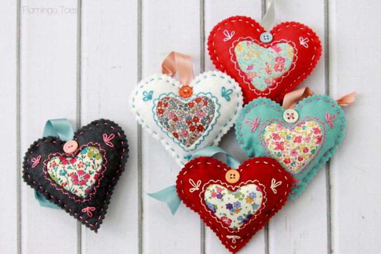 Felt Heart Valentines