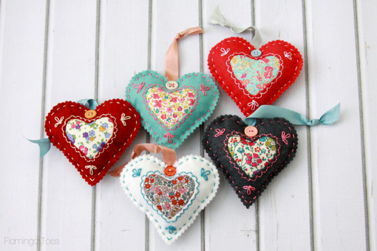 Felt and Fabric Valentine Sachets