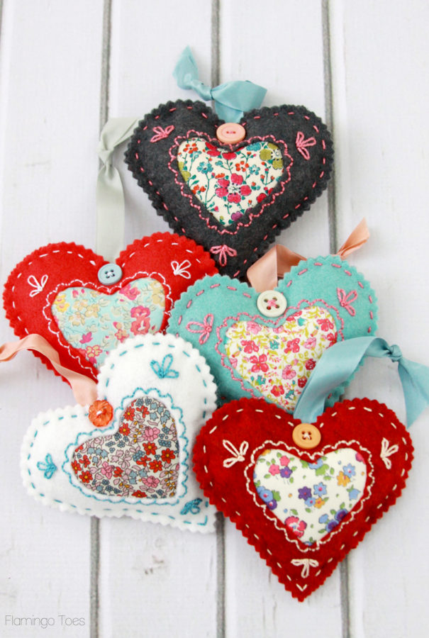 Liberty Fabric Heart Sachets