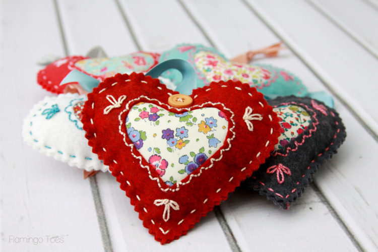Liberty Fabric Valentines