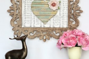 Darling Rolled Paper Heart Art