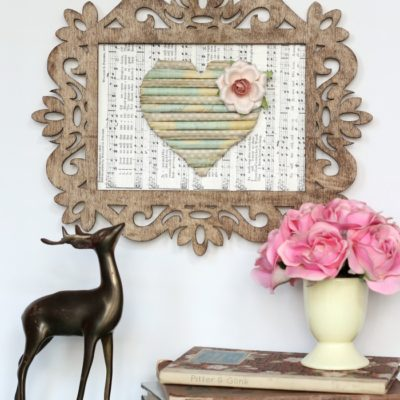 Darling Rolled Paper Heart Art