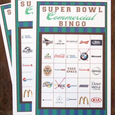 2015 Big Game Commercial Bingo