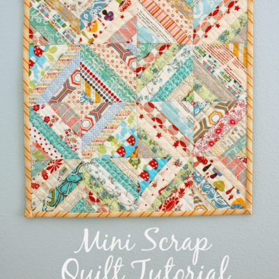 Gorgeous Mini Scrap Quilt Tutorial