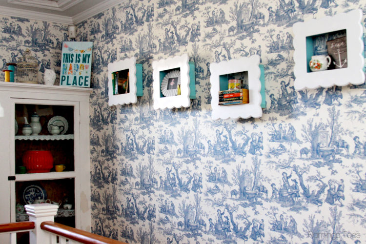 Vintage Style Framed Shelves and Decor