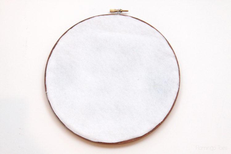Felt-Backing-on-Embroidery-Hoop