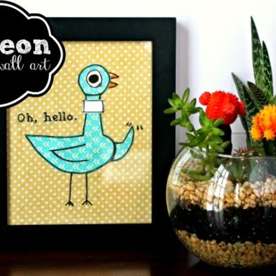 Adorable Pigeon Fabric Wall Art