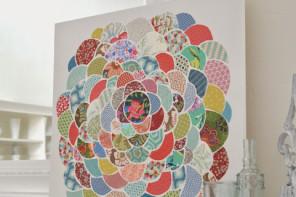 Anthro Pillow Inspired Canvas Flower Wall Art