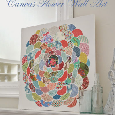 Anthro Pillow Inspired Canvas Flower Wall Art