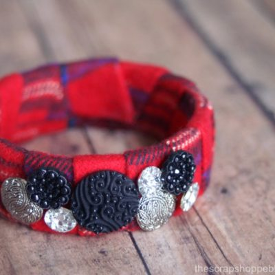 Plaid Bangle Bracelet
