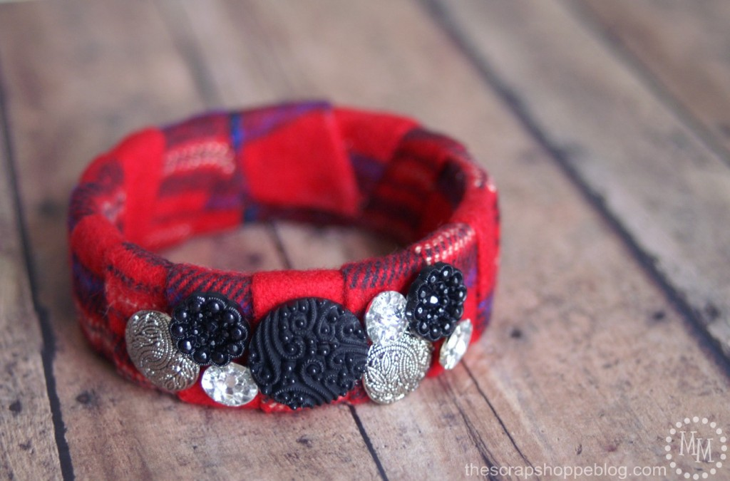 Plaid Bangle Bracelet