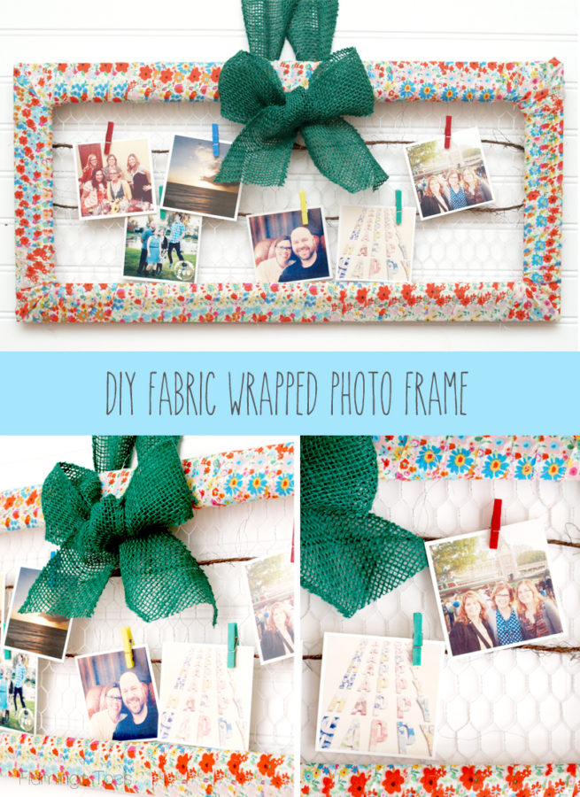 DIY-Fabric-Wrapped-Photo-Frame