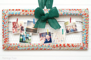 Spring Fabric-Wrapped Photo Frame