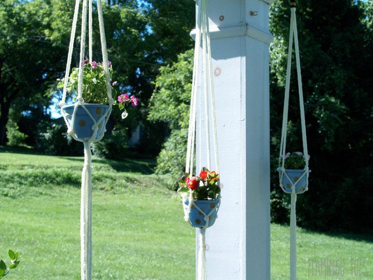 Polkadot Hanging Planters