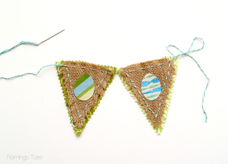 Sewing-Pennant-Together