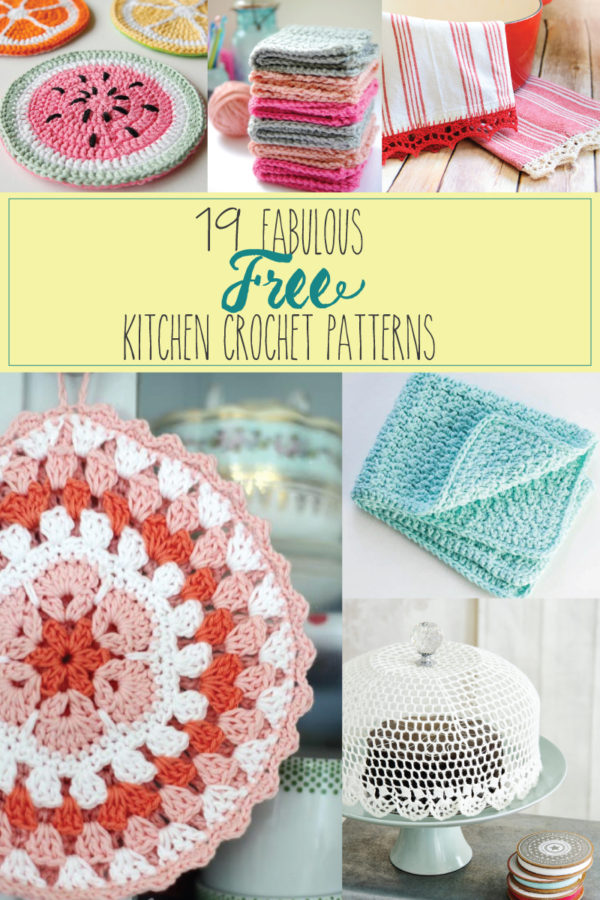 19 Fabulous and Free Kitchen Crochet Patterns - I love these!