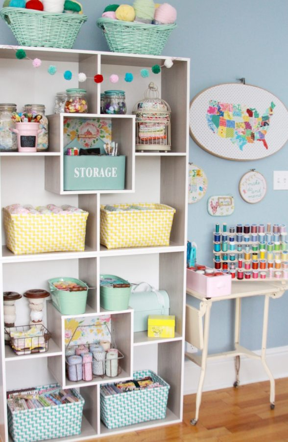 Craft Room Storage Part - 24: Colorful Craft Room Organization