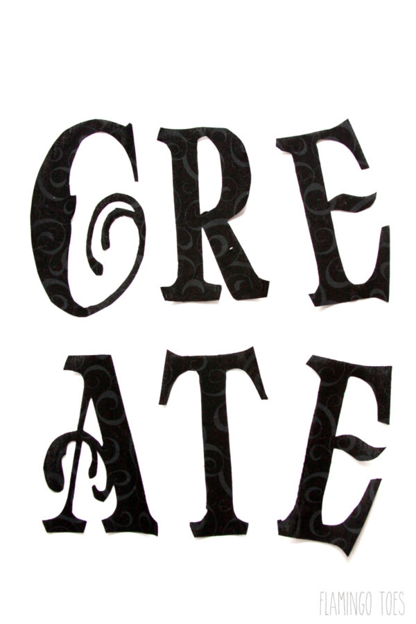 Create---fabric-letters