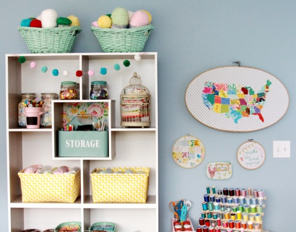 Creative Craft Room Storage Ideas
