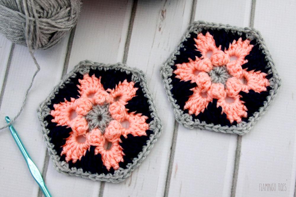 Star Lily Crochet Hexagon