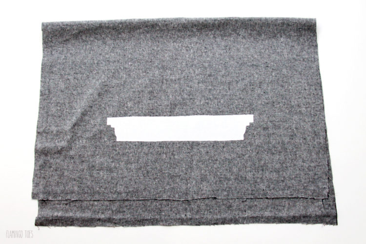 Fuse-fabric-to-dish-towel