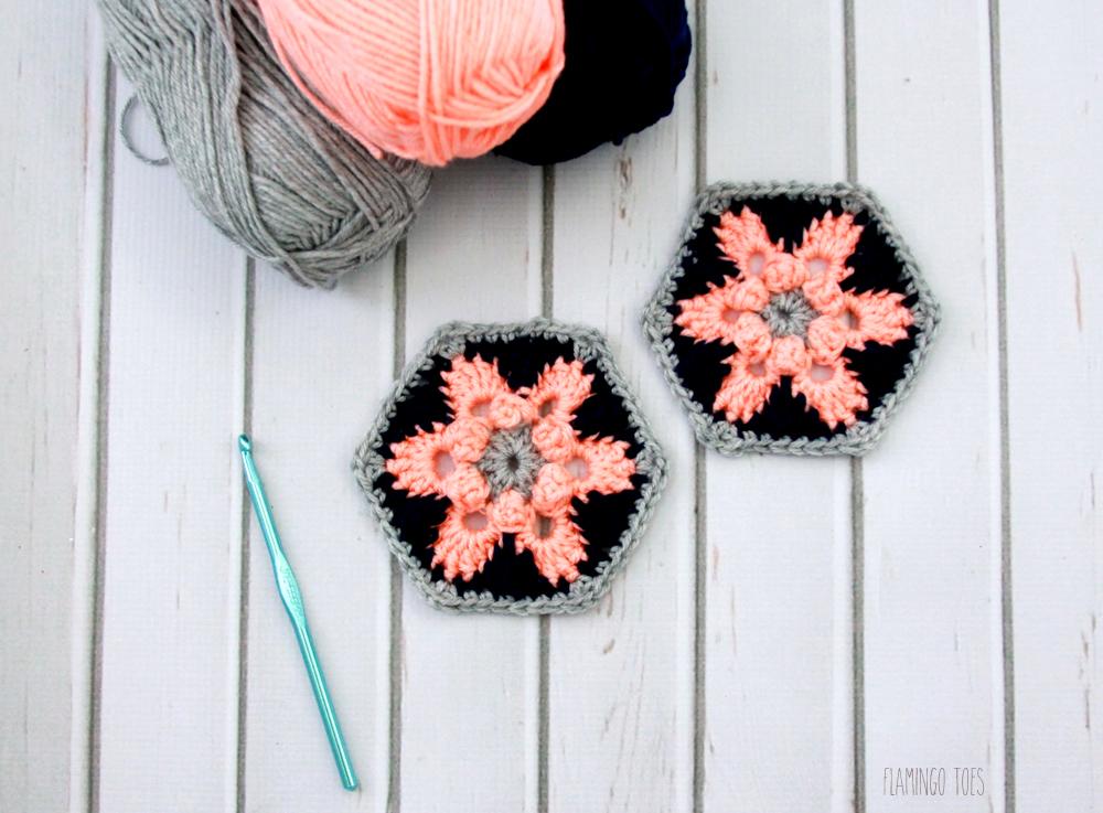 Star Lily Crochet Hexagon Pattern -