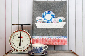 Time for Tea – Pretty DIY Dish Towel