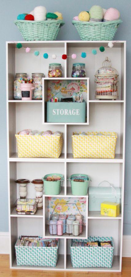 Vintage Style Craft Room Storage