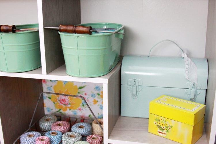Vintage Style Craft Room Storage Ideas