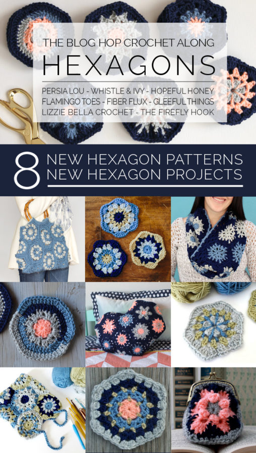 hexagon crochet along