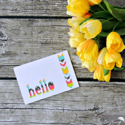 Colorful Scrappy Striped Card