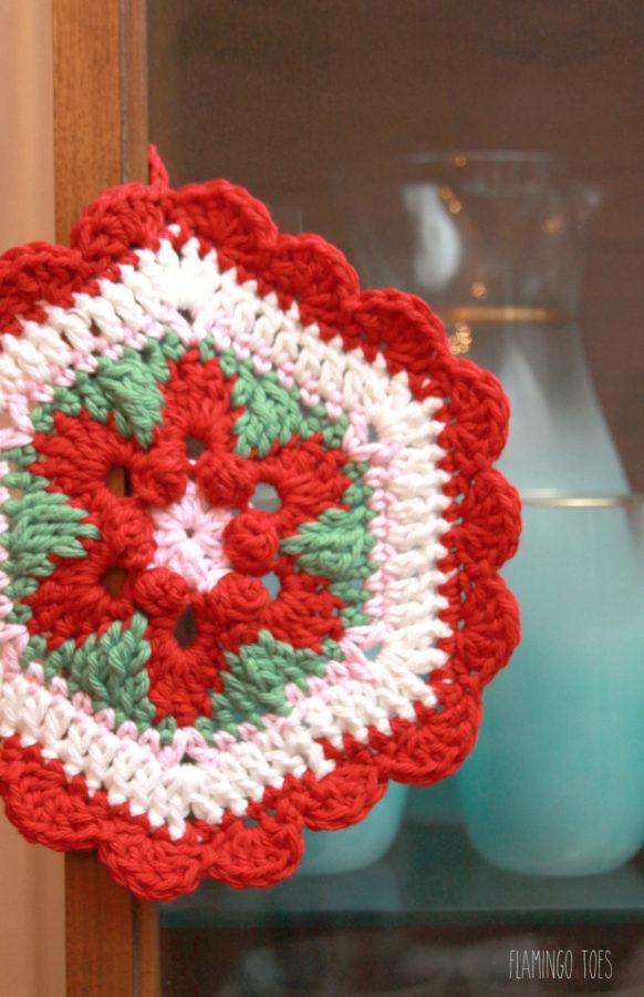 Colorful Vintage Style Crochet Potholder