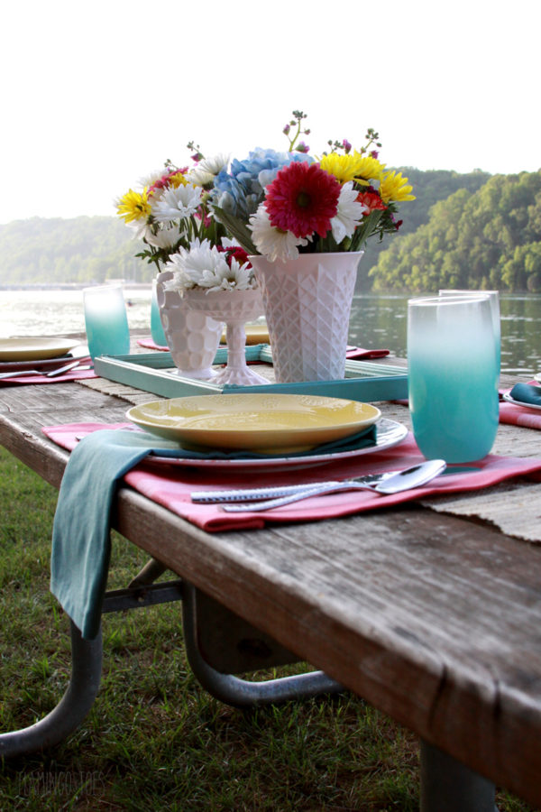 Easy Mix and Match Outdoor Entertaining