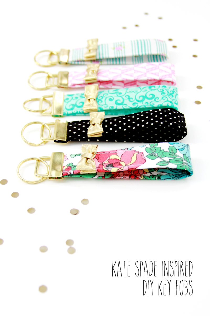 Kate Spade Inspired Key Fobs - these are so cute and look so easy to make!