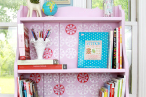 Retro Style Craft Room Bookshelf