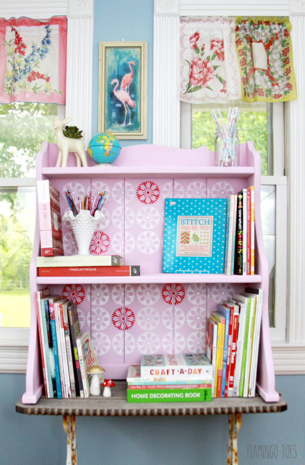 Painted Craft Room Storage