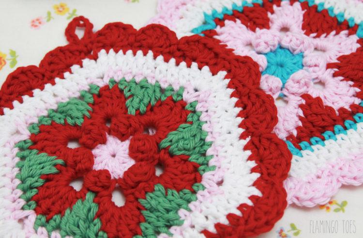 Pretty Crochet Potholders