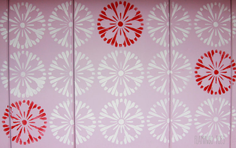 Retro Stenciled Flowers