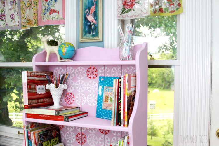 Vintage Style Craft Room Shelving