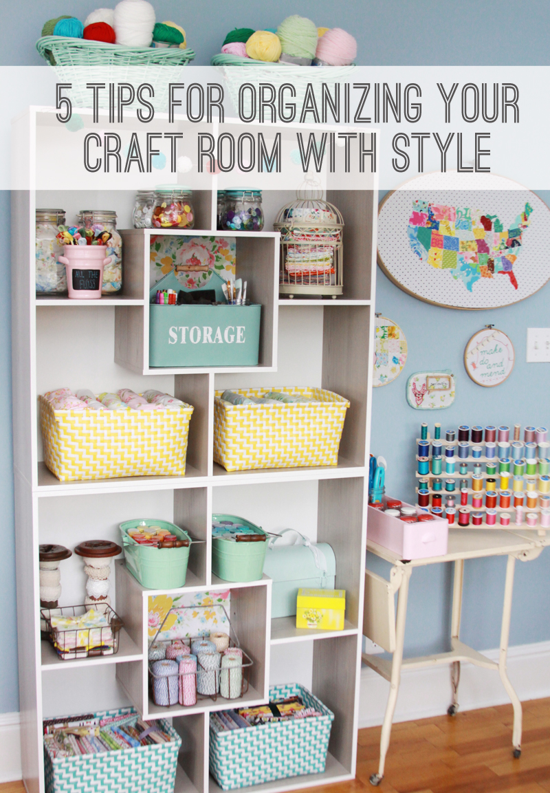 5 tips for organizing your craft room and finding deals for Sewing and craft supplies