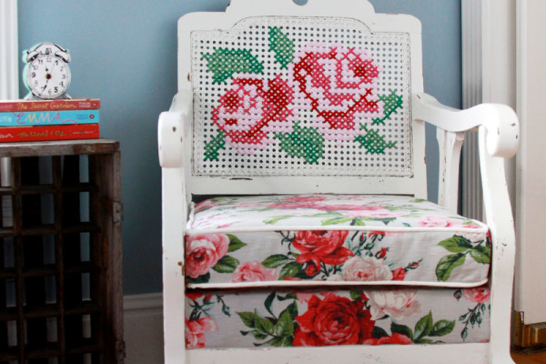 Cross Stitch Antique Chair Refinish