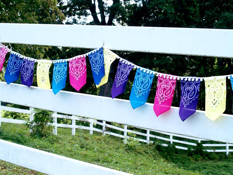 Fabric Bandana Bunting