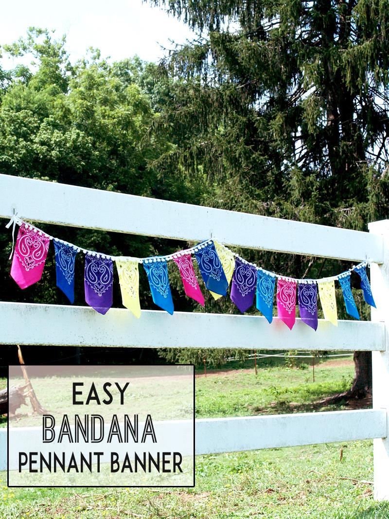 Easy Bandana Pennant Bunting
