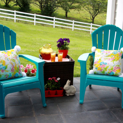 Colorful Summer Front Porch