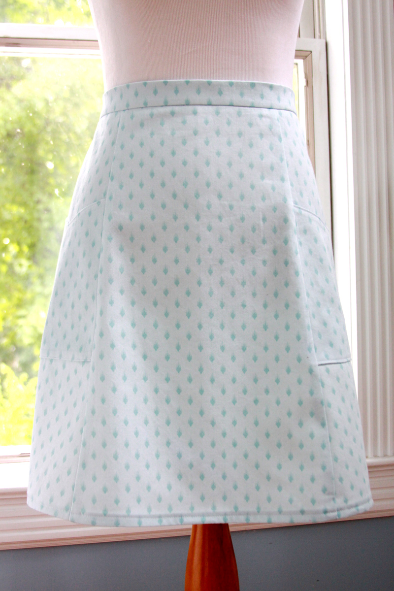 Turquoise Vintage Pocket Skirt